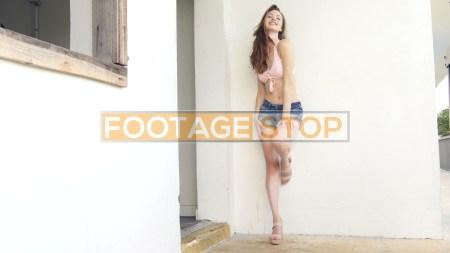 bikini-girl-fitness-lifestyle-beach-stock-video-footage