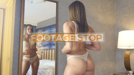 lingerie-girl-stock-video-footage