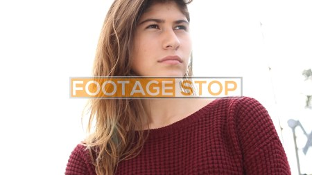 gen-z-authentic-girl-ethnic-urban-portrait-stock-video