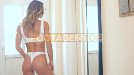 bikini-girl-white-stock-video-footage