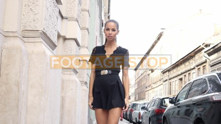 street-fashion-lifestyle-woman-stock-video-footage