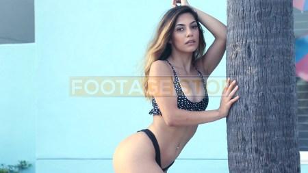hispanic-bikini-girl-beach-latina-vacation-stock-video