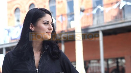 hispanic-woman-street-style-portrait-fashion-beauty-stock-video