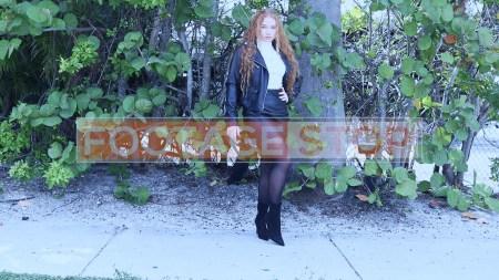 redhead-pantyhose-gen-z-girl-stock-video-5