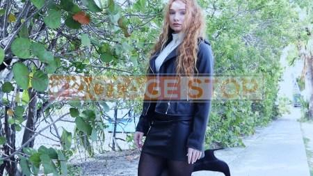redhead-pantyhose-gen-z-girl-stock-video-9