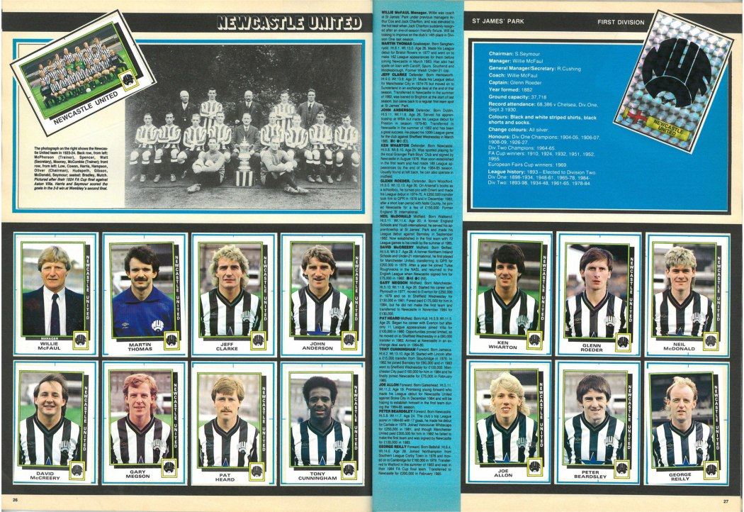 Newcastle United 1986
