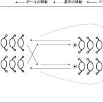 2列のパス&ゴー コントロール サッカートレーニングネット