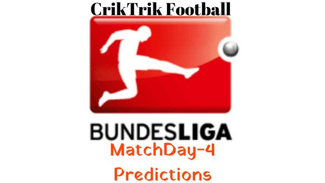bundesliga matchday 4 predictions