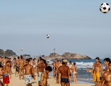 Rio + Football + beach.