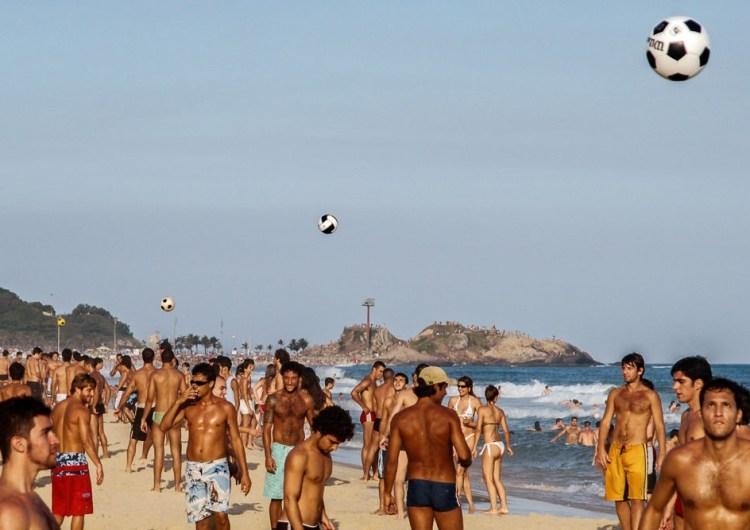 Rio + Football + beach.