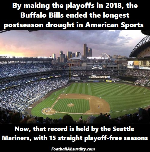 mariners playoff drought