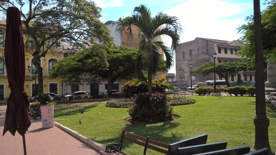 One of the many squares in Casco Viejo