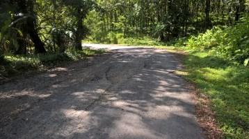 Bumpy road = fallen baskets