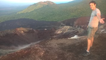 Steam emanating from the crater of Cerro Negro