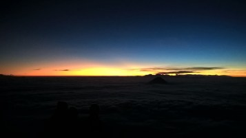 Sunrise from atop a volcano