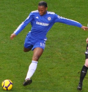 One side of Stamford Bridge thought Chelsea striker Didier Drogba had scored when his free-kick hit the side-netting against Liverpool.