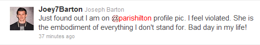 Joey Barton on Paris Hilton