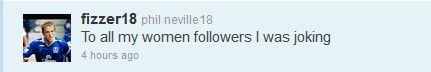 Phil Neville apology