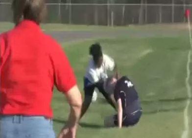 Lewisville High senior Annette McCullough attacks an opponent