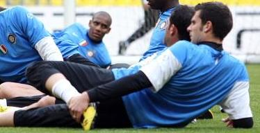 Thiago Motta pleads with Italy team mate Mario Balotelli not to be a loon during Euro 2012