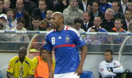 Shanghai Shenhua's Nicholas Anelka playing for France