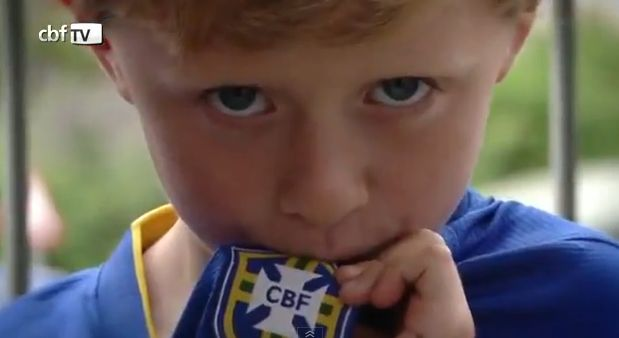 The little British fan who met Brazil's Neymar and sang his song