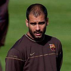 Pep Guardiola managing Barcelona
