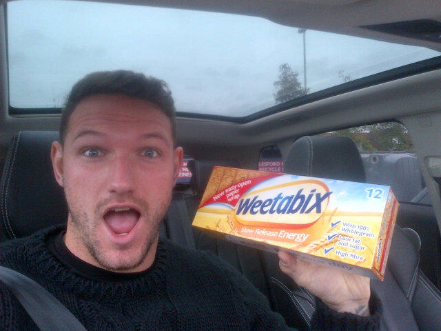 Reading's Sean Morrison starts his Cereal Quest with Weetabix