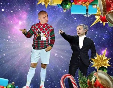 The 2012 Karim Benzema Christmas song, featuring José Mourinho