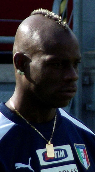 Mario Balotelli at Euro 2012 with Italy