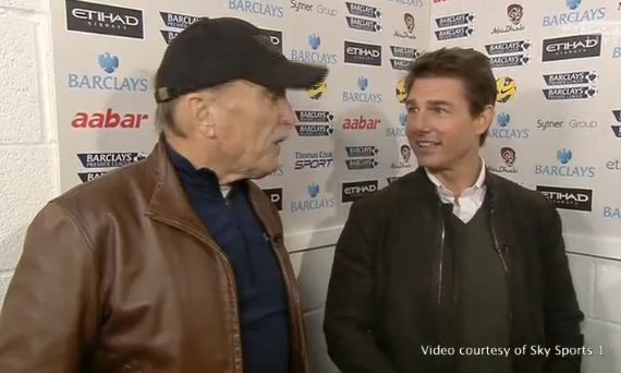 Tom Cruise and Robert Duval interviewed by Sky Sports before Sunday's thrilling Manchester derby