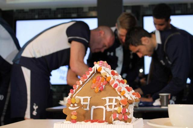 The example gingerbread house in the Tottenham Hotspur Festive Challenge