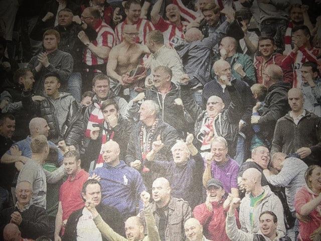 Craig Gardner joins Sunderland fans for Newcastle derby match