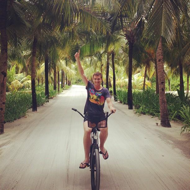 Football players on holiday: Edin Džeko in the Maldives