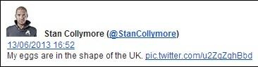 Stan Collymore eggs tweet
