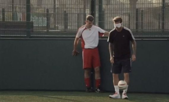 David Beckham joins Team GB's visually impaired footballers, one of our top 10 Beckham videos
