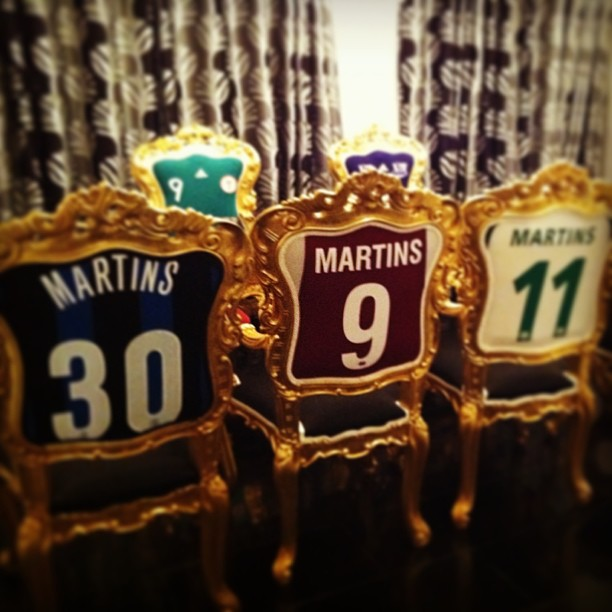 Obafemi Martins's football shirt chairs