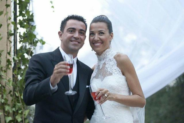 Xavi marries Nuria Cunillera