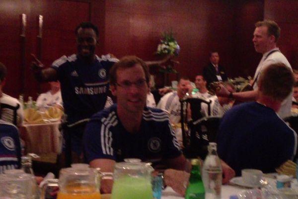 Michael Essien dances on Chelsea's pre-season tour
