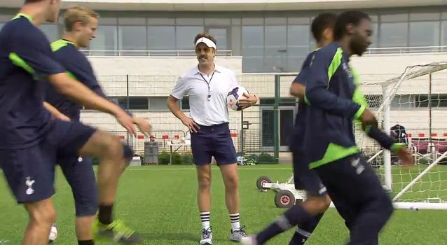 Jason Sudeikis is An American Coach in London in a new NBC Sports film-style advert
