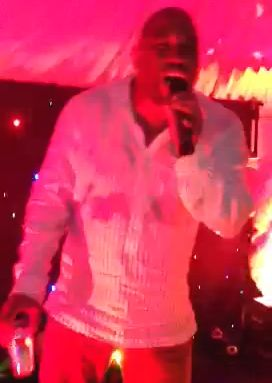 John Barnes raps The Sugarhill Gang - Rapper's Delight at Mark Wright's birthday party