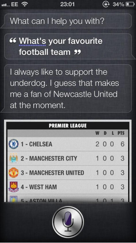 Apple iPhone personal assistant Siri supports Newcastle