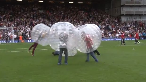 Fulham's half-time bubble football at Craven Cottage