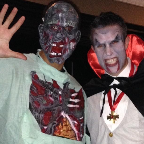 Rio Ferdinand & Robin van Persie Halloween costumes
