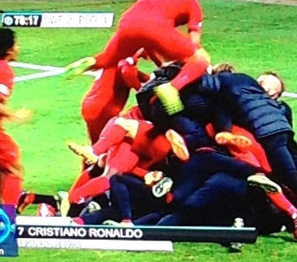 Cristiano Ronaldo hat trick v Sweden