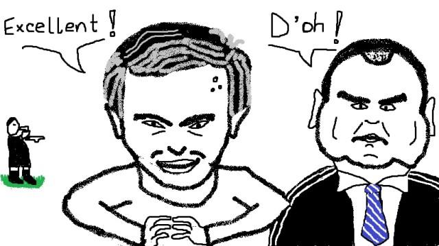 Jose Mourinho and Steve Clarke