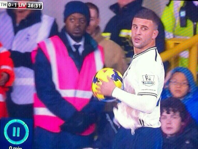 Emmanuel Adebayor steward lookalike, one of the best Spurs jokes after their 0-5 loss to Liverpool