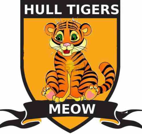 A mock-up of what the new club emblem could look like, one of the best Hull Tigers jokes after Hull City's name change application