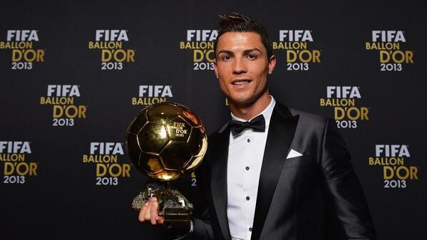 Cristiano Ronaldo, winner of the Ballon d'Or