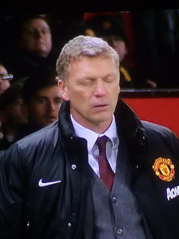The moment the Manchester United players break his heart, one of the latest David Moyes jokes as United exit League Cup on penalties